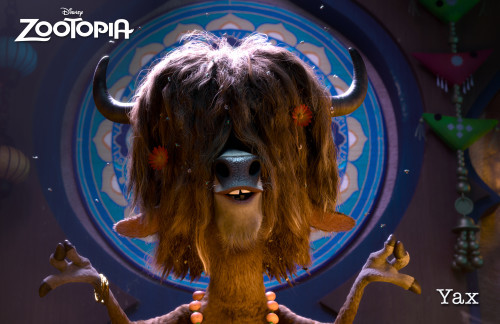 ZOOTOPIA – YAX THE YAK, the most enlightened, laid-back bovine in Zootopia. When Judy Hopps is on a case, Yax is full of revealing insights. ©2015 Disney. All Rights Reserved.