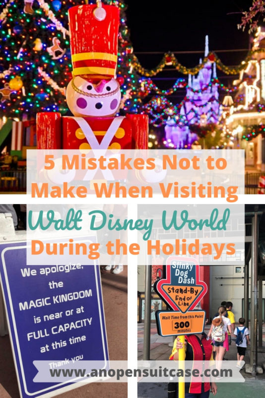 visiting wdw during holidays