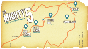 The Mighty Five Utah Map.7 Days 5 National Parks Road Trip To The Mighty 5 In Utah An