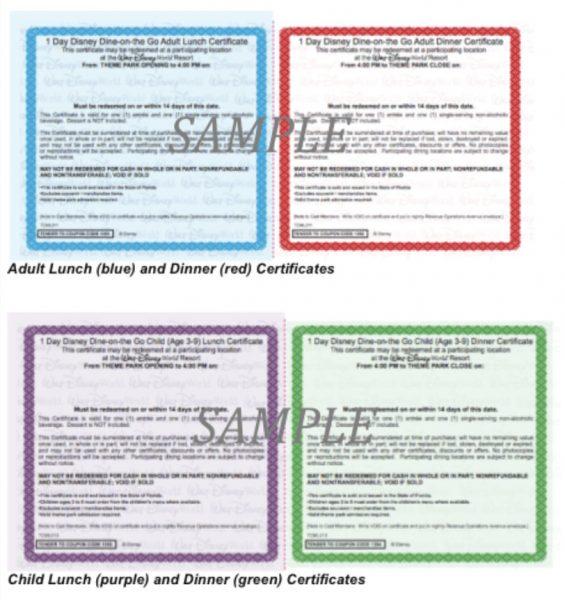 Disney Quick Service Dining Test