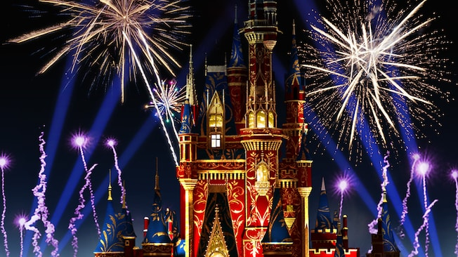 Wishes Happily Fireworks Magic Kingdom