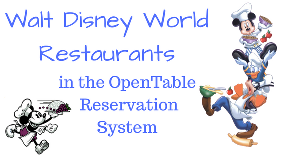 OpenTable Walt Disney World