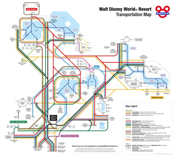 A Guide to the WDW Transportation System : An Open Suitcase