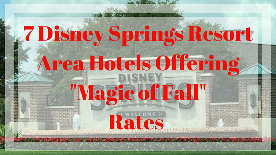disney springs resorts rates
