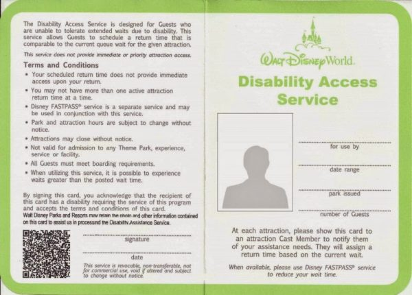 Disney Disability Access Service
