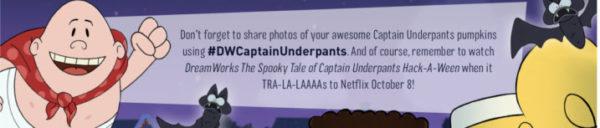Captain Underpants Halloween Pumpkin