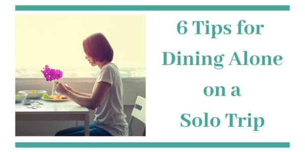 tips for dining solo