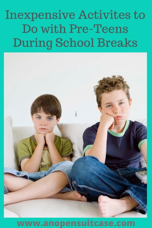 preteen activities during breaks