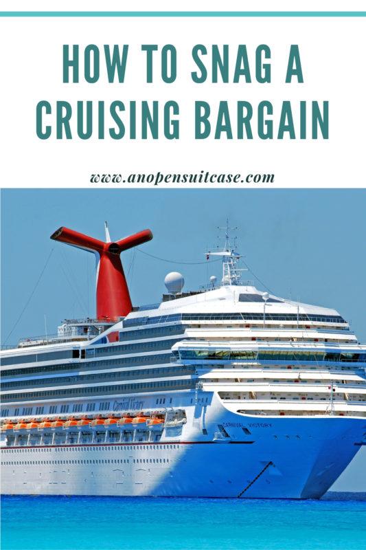 snag a cruising bargain