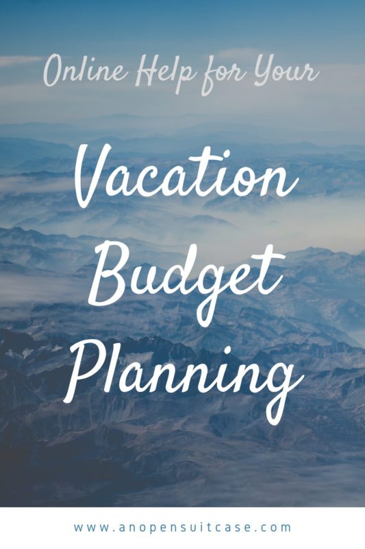 online vacation budget planning