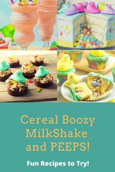 boozy milkshake and peeps