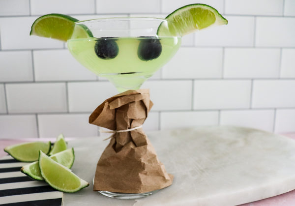 yoda cocktail and mocktail