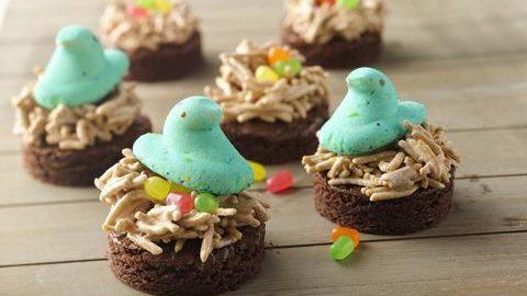 Peeps Brownie Nests