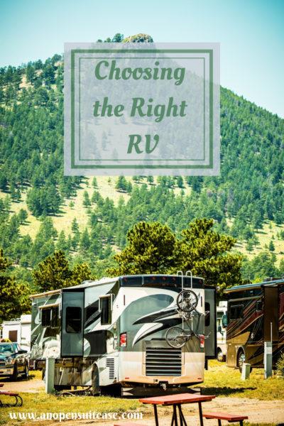 Choosing the best RV
