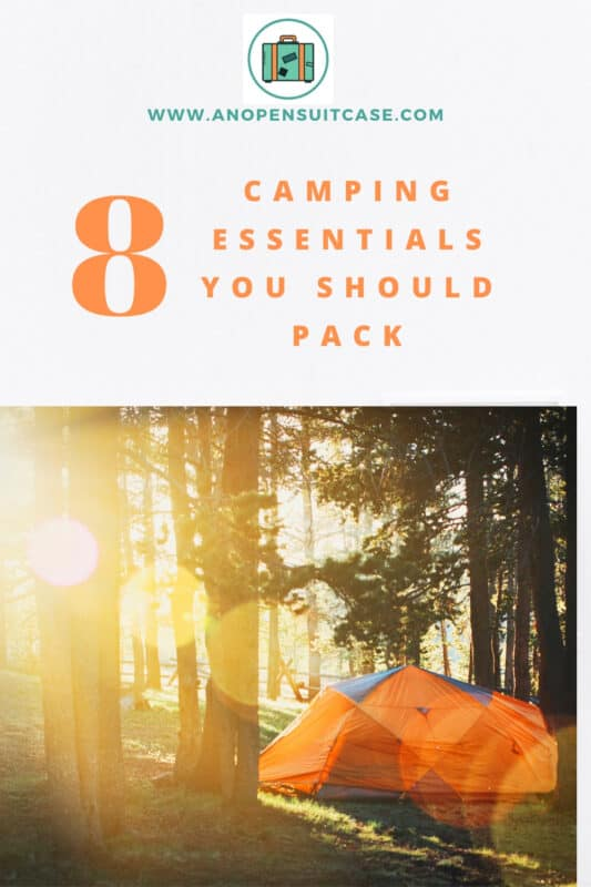 camping essentials to pack